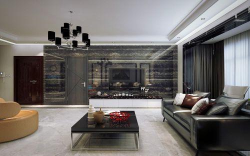 鸣雀装饰丽景花园130米港式风格黑白灰设计
