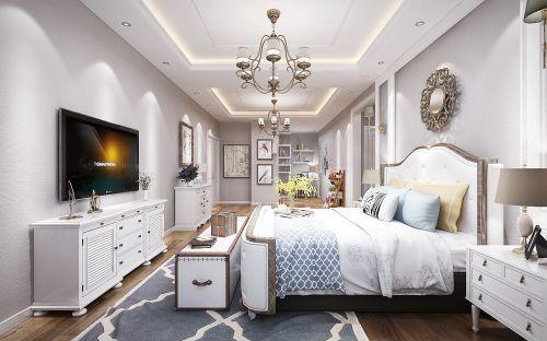 哈尔滨保利城145米美式风格装修设计