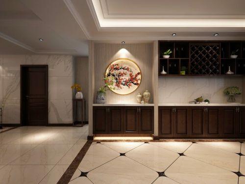 保利香榭丽公馆140平米中式风格装修案例赏析