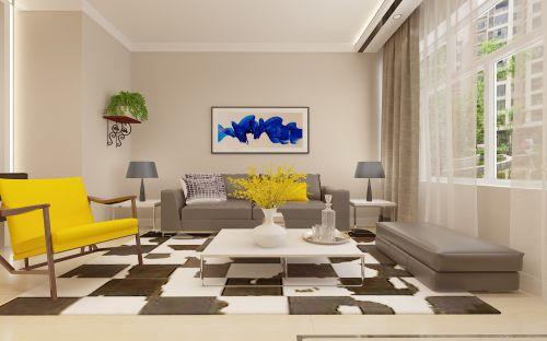 鸣雀装饰打造鲁商凤凰城75米现代风格装修设计