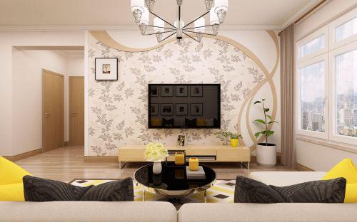 九维鸣雀装饰公司 松浦观江国际 两室一厅使用65平 北欧风格