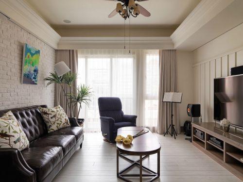 110平米现代美式婚房装修设计