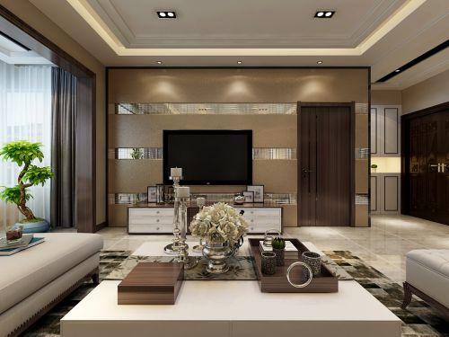 华润装饰哈尔滨道里区恒祥空间3室2厅2卫104平米现代装修设