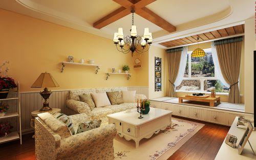 华润装饰哈尔滨松北世茂都柏林2室1厅1卫65平米田园装修设计