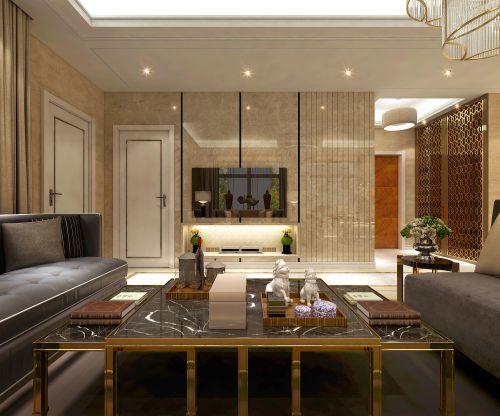 鸣雀装饰公司 辰能南区98平港式风格三居装修案例