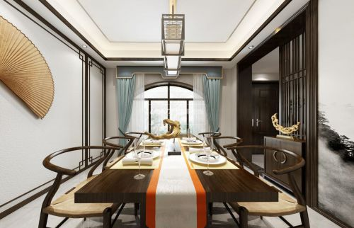 重慶茶園鴻笙苑別墅裝修設計效果-新中式風格