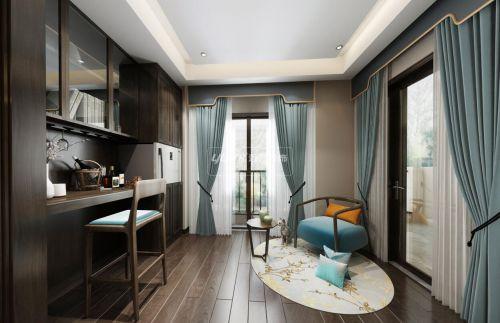 重庆茶园鸿笙苑别墅装修设计效果-新中式风格