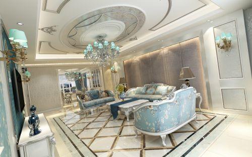 鳴雀裝飾公司|金色江灣130平法式三居裝修案例