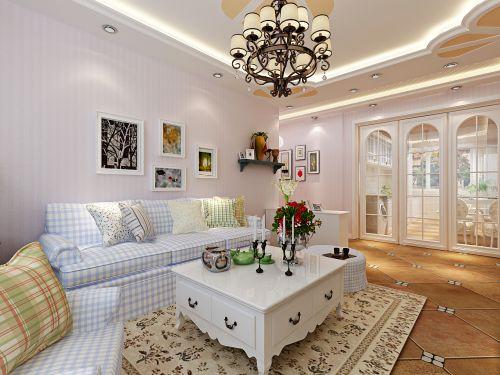 華潤裝飾哈爾濱南崗區凡爾賽詩城2室1廳1衛63平米田園裝修設