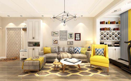海富臻园两室一厅装修鸣雀装饰设计