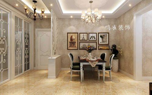 哈尔滨星光耀70米简欧装修案例鸣雀装饰设计