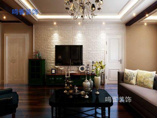 哈尔滨星光耀小区138米简约美式装修|九维鸣雀装修