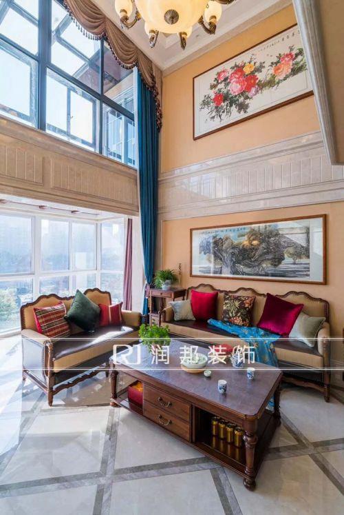 沁春園疊墅240平方美式新古典完工實景