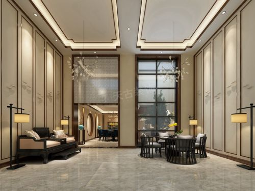 萬科頤府裝修|天古裝飾萬科悅府新中式別墅設計