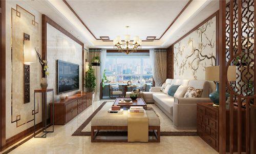 財富中心127平新中式風格裝修,一抹寫意幾許禪意