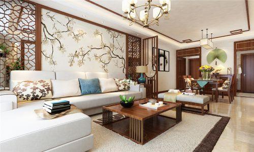 财富中心127平新中式风格装修,一抹写意几许禅意