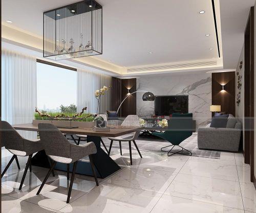 太湖国际凯旋门三室两厅现代简约风格案例赏析