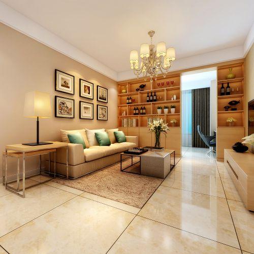 望湖嘉苑3室2廳105平米現代風格