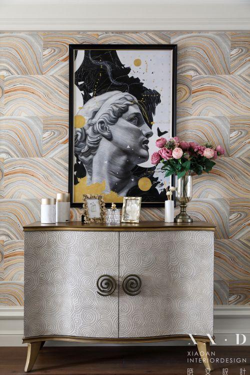 晓安设计 在美式色彩下,家的春暖与花开