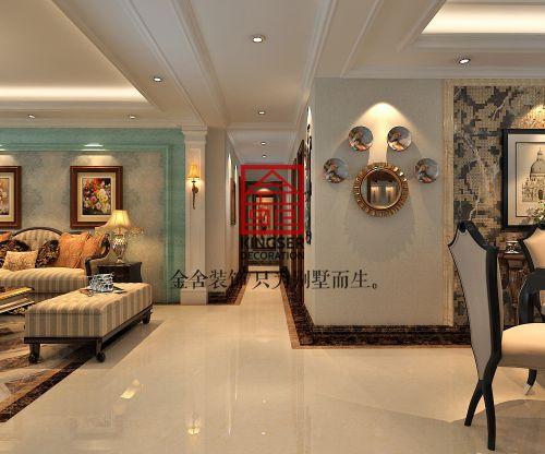 金舍装饰—国际城—252平—美式风格—装修案例