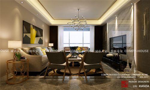 中国mall城市之星现代轻奢风格装修效果图