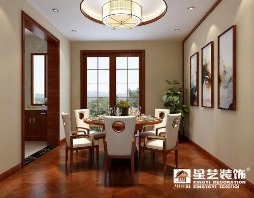 星艺装饰 未来方舟166平四房新中式风格装修设计效果图