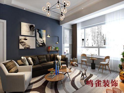 北欧风格装修效果图鸣雀装饰三居室装修案例