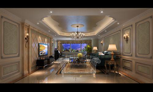 成都半岛城邦270平米经典美式别墅装修效果图