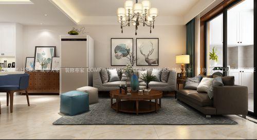 海尔云世界95平方三室二厅简约风格装修效果图