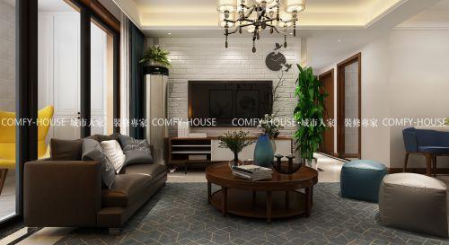 海爾云世界95平方三室二廳簡約風格裝修效果圖