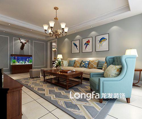 156平米美式风格,一个简单、干净的家~~