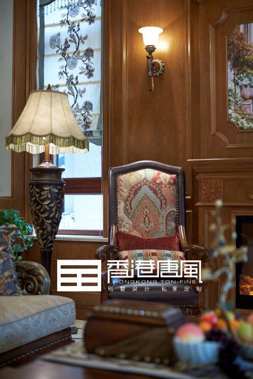 济南中海铂宫600平美式风格别墅装修实景