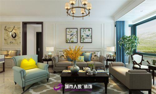 中建锦绣兰庭装修案例现代美式风