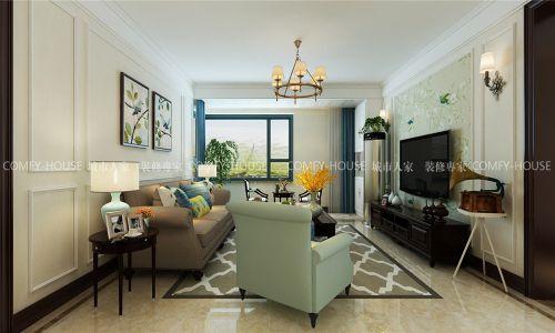 锦绣兰庭120现代美式风格装修实案,餐厅卡座设计亮眼