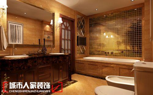 呼和浩特城市人家装修公司锦绣福源复式240平米的古典风格案例
