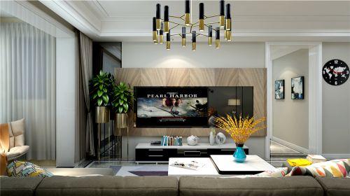鲁能泰山七号三室两厅现代简约风格装修效果图