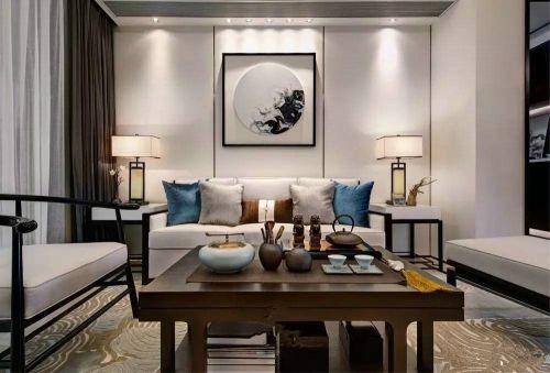 龙城壹号118平米新中式风格设计效果图