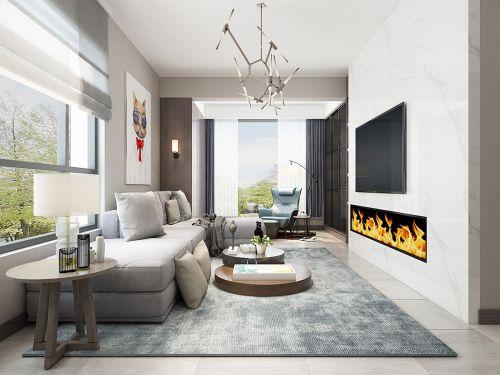中德英伦世邦80平米两居室北欧现代风格