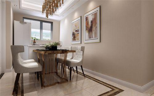 鲁能泰山七号现代轻奢风格三室两厅装修效果图
