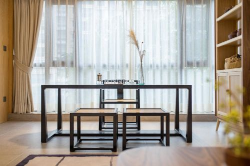 汉城湖畔4室2厅140平米中式风格