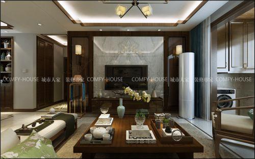 华山珑城135㎡新中式风格装修实案