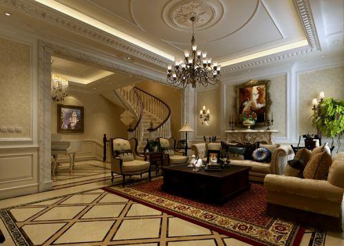鸿基紫韵--四居室--家装案例--欧式风格