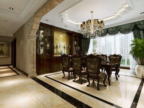 曲江·诸子阶--四居室--家装案例--美式风格