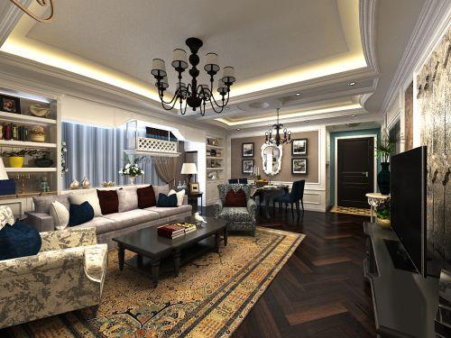 文景小区--三居室--家装案例--欧式风格