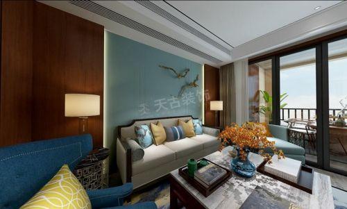 铂悦澜庭120户型港式风格装修设计效果图