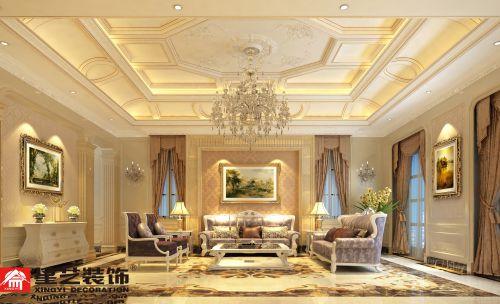贵阳保利公园500平独栋别墅欧式风格装修设计!