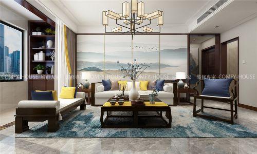 中海珑湾128㎡中式风格装修效果图