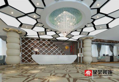 星艺装饰|1500平售楼中心现代简欧设计!