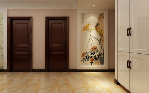 历城鹊华天禧三室两厅简约中式装修效果图