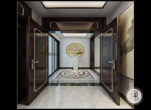 国宾一号158平米房子徽派简中风格